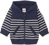 Petit Bateau Baby boy's hooded striped sweatshirt 3-36 months