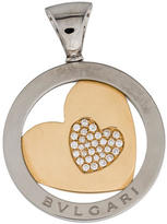 Bvlgari Tondo Diamond Heart Pendant