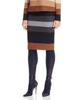 Max Mara Marea Striped Wool Skirt
