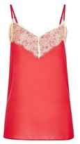 Dorothy Perkins Womens Neon Red Lace Camisole Top, Red