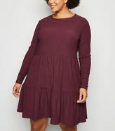 New Look Curves Tiered Mini Smock Dress