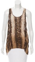 Torn By Ronny Kobo Sleeveless Snake Print Top