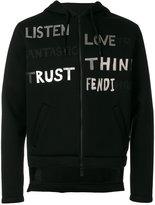 Fendi printed hooded sweatshirt - men - Cotton/Polyester/Viscose - 46
