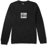 Stüssy - Slim-fit Reflective-print Cotton-blend Jersey Sweatshirt