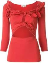 Isa Arfen cut out detail blouse