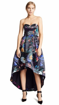 Parker Women's Roxanne Strapless High Low Gown with Pockets