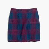 Madewell Rivet & Thread Embroidered Japanese Denim Skirt
