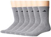 adidas Athletic 6-Pack Crew Socks Men's Crew Cut Socks Shoes