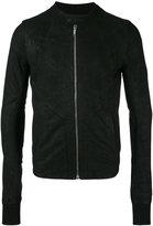 Rick Owens intarsia jacket - men - Cotton/Lamb Skin/Cupro/Virgin Wool - 48