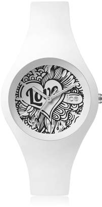 Ice Watch Ice-Watch - ICE love 2016 White Doodle - Women's wristwatch with silicon strap - 001480 (Small)