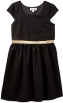 Love, Nickie Lew Texture Pop-Over Dress with Elastic Waistband (Big Girls)