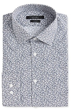 John Varvatos Soho Scattered Floral Print Slim Fit Dress Shirt