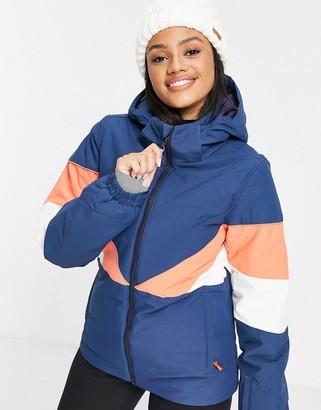 Protest colourblock ski jacket in navy