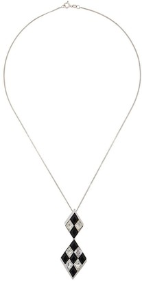 Susan Caplan Vintage 1980s Trifari diamond pendant necklace