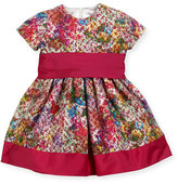 Helena Banded Floral Party Dress, Fuchsia, Size 7-14