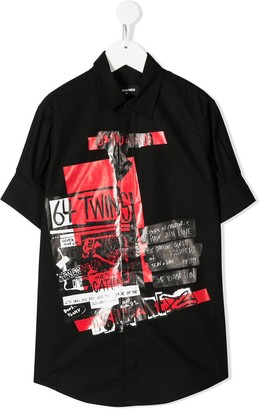 DSQUARED2 Punk'd printed shirt
