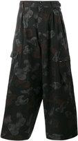 Yohji Yamamoto Printed cropped trousers
