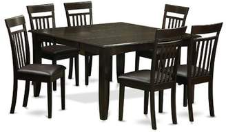 August Grove Pilning 7 Piece Dining Set with Rectangular Table Top August Grove