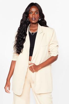 Nasty Gal Womens That's Show Business Plus Longline Blazer - Vanilla