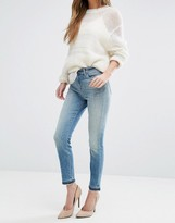 J Brand Alana High Rise Crop Raw Hem Jeans