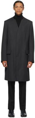 Maison Margiela Grey Wool Collar Coat