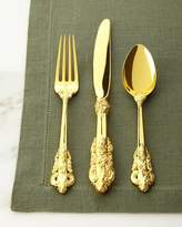 Godinger 65-Piece Gold 20th-Century Baroque Flatware Service