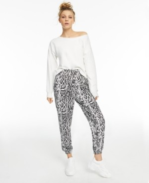 INC International Concepts Culpos x Inc Snake-Print Casual Pants, Created for Macy's