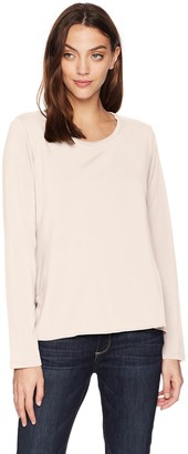 Majestic Filatures Women's French Terry Long Sleeve Crew
