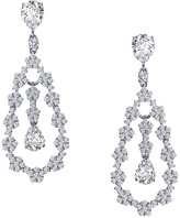 Lafonn Platinum Over Sterling Silver Simulated Diamond Micro Pave Pear Drop Earrings