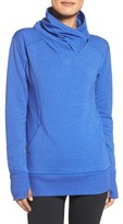 Zella Frosty Asymmetrical Zip Pullover