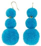 BaubleBar Pompom Triple Drop Earrings