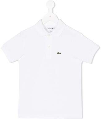 Lacoste Kids Logo-Embroidered Short-Sleeved Polo Shirt