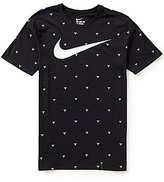 Nike Core Net Basketball Printed Crewneck Short-Sleeve Tee