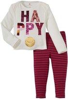 Pink Chicken Happy 2 Piece Set (Baby) - Happy Graphic/Berry-3-6 Months