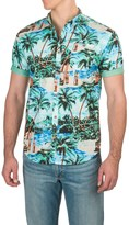 Free Nature Woven Printed Shirt - Short Sleeve (For Men)
