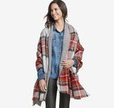 Johnston & Murphy Double-Faced Plaid Blanket Wrap