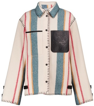 Loewe Striped wool flannel shirt jacket