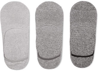 Melange Home Anonymous Ism Three-Pack Cotton-Blend No-Show Socks