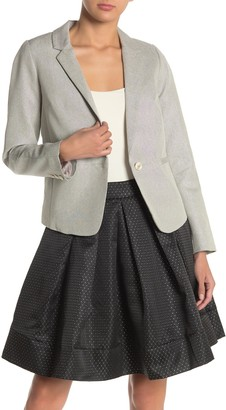 Frnch Shimmer Notch Collar Blazer Jacket
