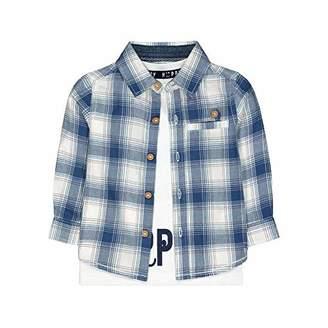 Mothercare Baby MB BP Blue Check Shirt & TEE LS T - Shirt,(Size:62)
