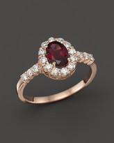 Bloomingdale's Rhodolite and Diamond Halo Ring in 14K Rose Gold