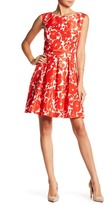 Gabby Skye Belted Floral Dress