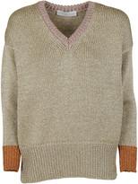 Giada Benincasa Contrast V-neck Sweater
