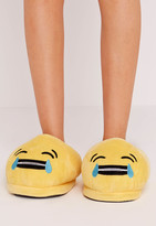 Missguided Yellow Laughing Face Emoji Slippers
