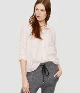 Lou & Grey Plaid Standcollar Button Down Shirt