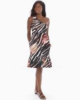 Soma Intimates One Shoulder Ruffle Hem Short Dress Jungle Safari