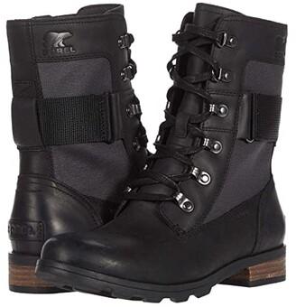 Sorel Emelie Conquest (Black 1) Women's Lace-up Boots