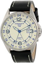 Torgoen Swiss Men's T25104 T25 GMT Stainless-Steel Date Aviation Watch