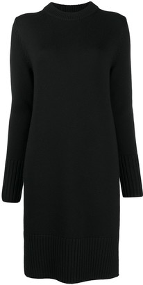 Totême Cut-Out Long-Sleeved Knitted Dress