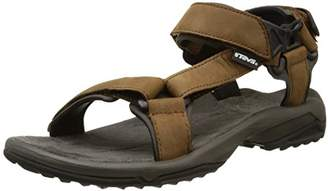 Teva Men's Terra Fi Lite Leather Sports and Outdoor Hiking Sandal, Brown, (39.5 EU)